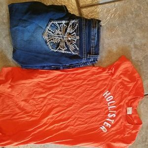 Vanilla star jeans nwo, with hollister t-shirt